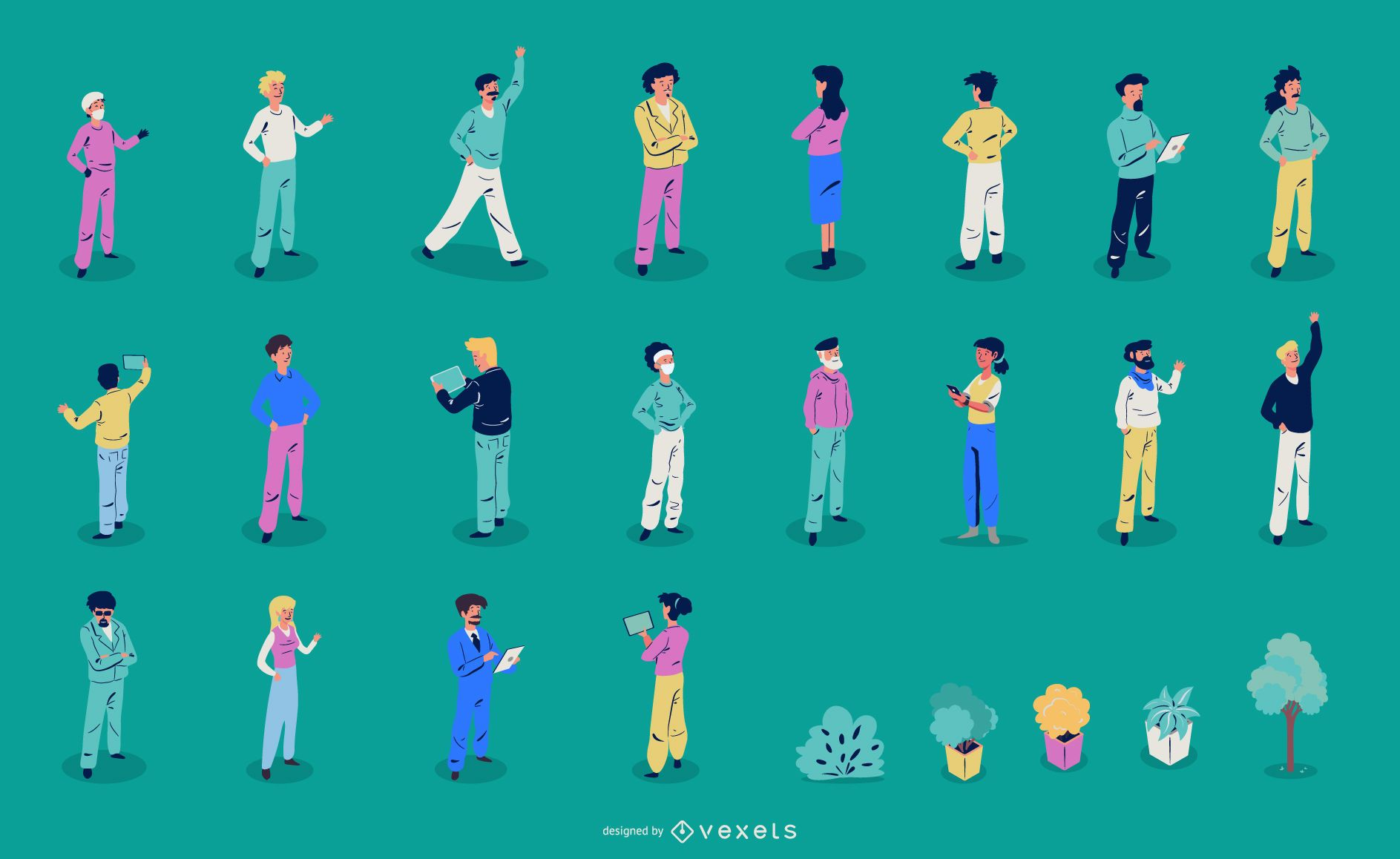 Isometric People Illustration Collection
