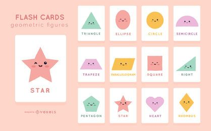 Cute Shape Flashcard Pack