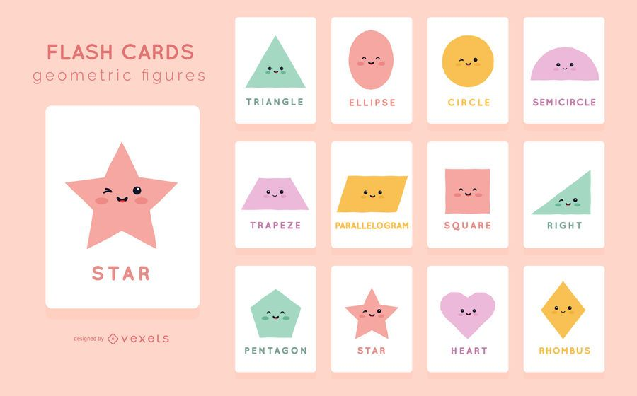 Cute Shape Flashcard Pack