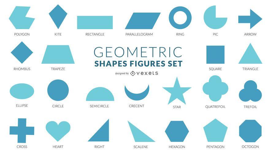Colección de diseño plano de formas geométricas