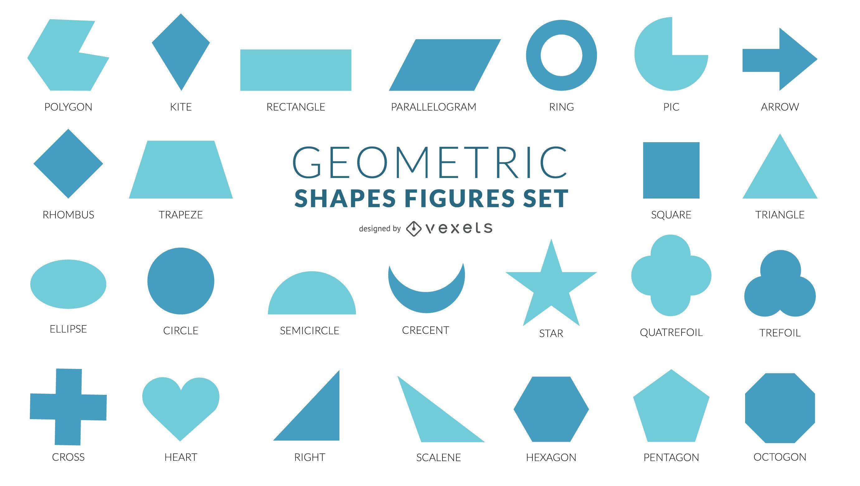 Coleção de formas geométricas planas