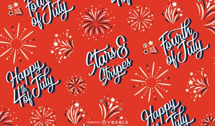 Independence Day Lettering Pattern Design