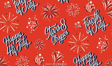 Independence Day Schriftzug Muster Design