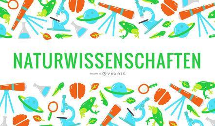 Cubierta de texto alemán de ciencias naturales