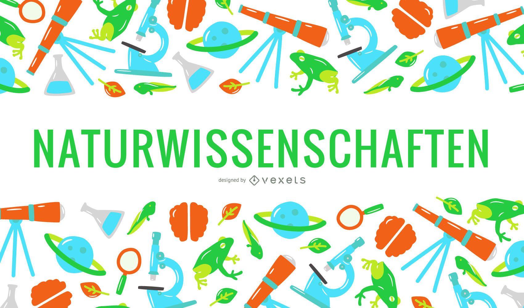 Capa de texto em alemão de ciências naturais