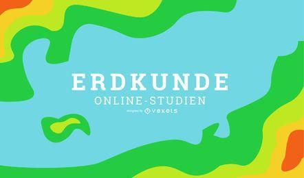 Diseño de portada de alemán de aprendizaje en línea