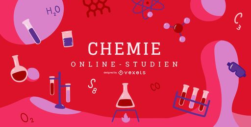 Diseño de portada de educación alemana de química