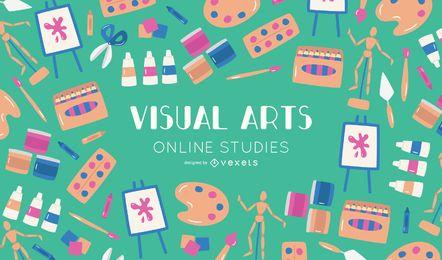 Os cursos on-line de artes visuais abrangem