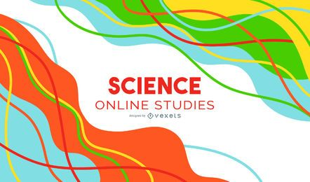 Abstraktes Cover-Design der Wissenschaftsklasse