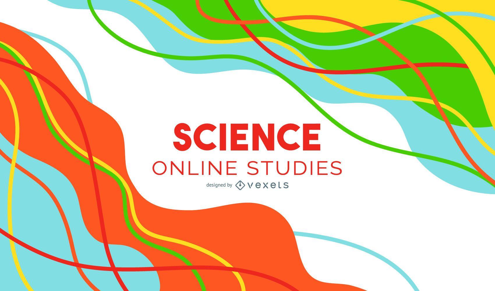 Diseño de portada abstracta de clase de ciencias