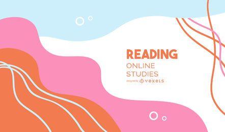 Lectura de cubierta abstracta de estudios en línea
