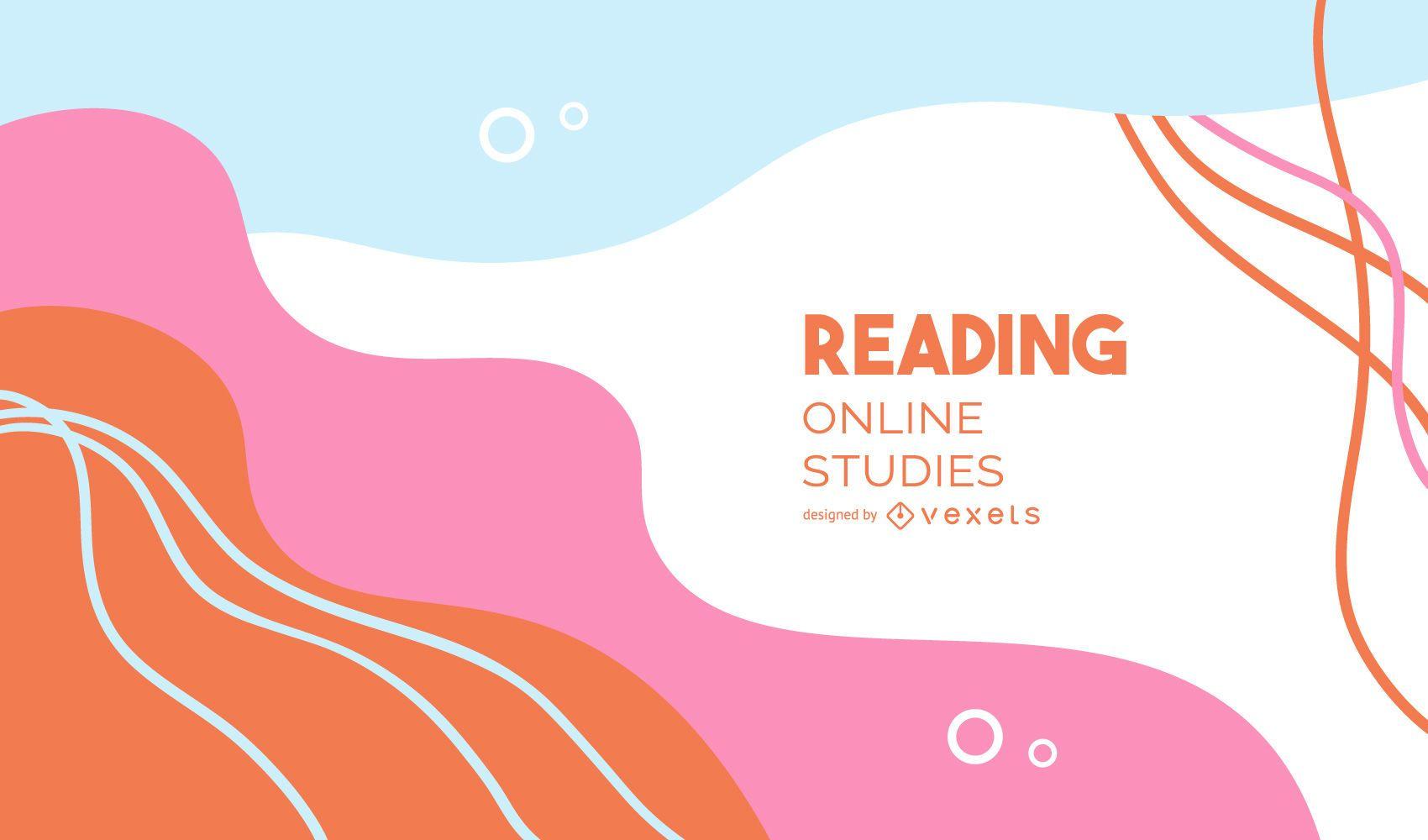 Lesen Sie das abstrakte Cover der Online-Studien