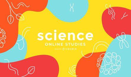 Estudios de ciencia en línea diseño de portada abstracta