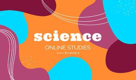 Cubierta abstracta de estudios de ciencia en línea