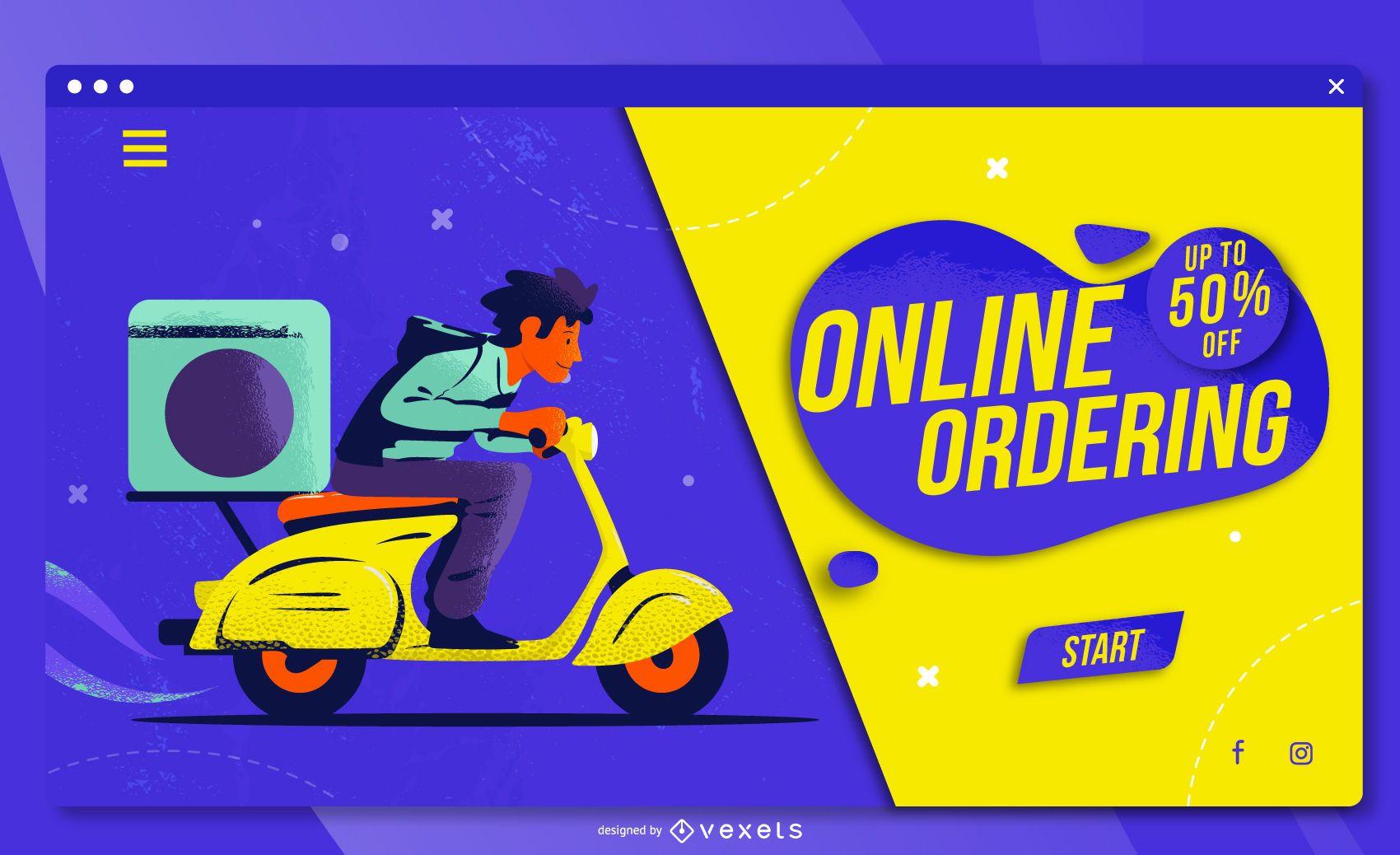 Plantilla web de compras en línea