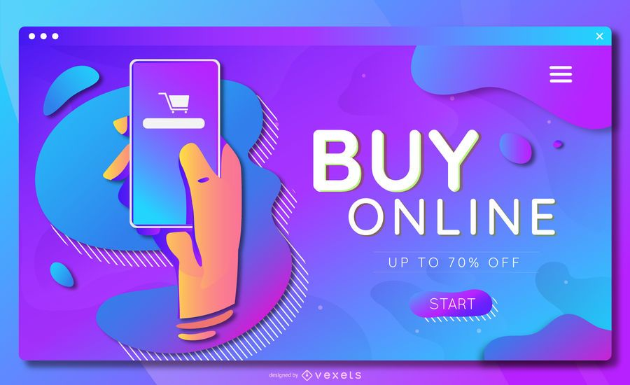 Buy online landing page template