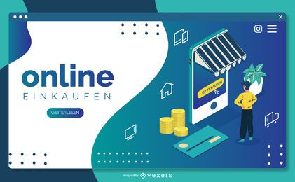 Deutsches E-Commerce Web Template Design