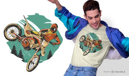 Freestyle Motorider T-shirt Design