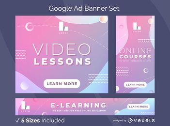 Pacote de banner de anúncios em vídeo do Google Lessons