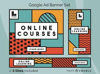 Cursos online Paquete de banners de anuncios de Google