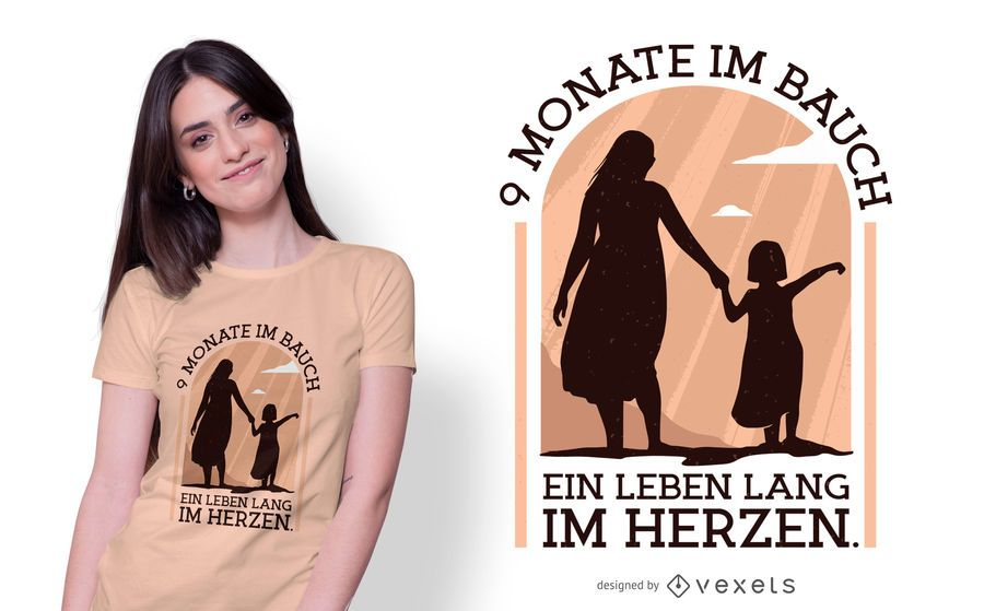Pregnancy German Quote T-shirt Design