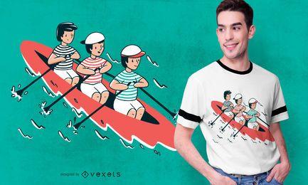 Diseño de camiseta para niños de remo