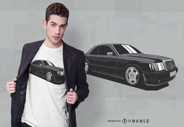 Diseño de camiseta de coche lujoso