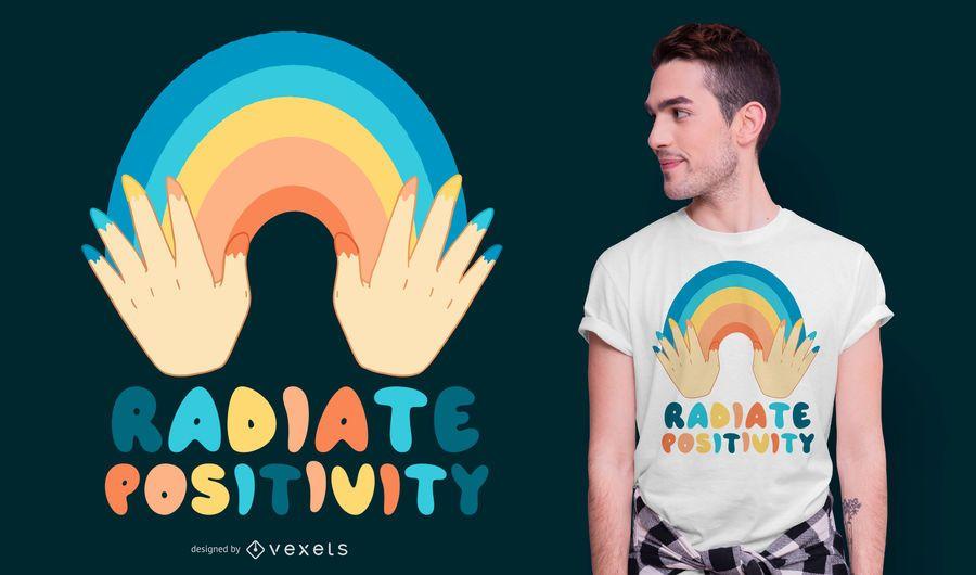 Radiate Positivity Quote T-shirt Design