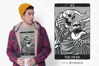 Skeleton Tarot Devil T-shirt Design