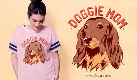 Doggie Mom Text T-shirt Design