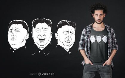 Kim Jong Un Faces T-shirt Design
