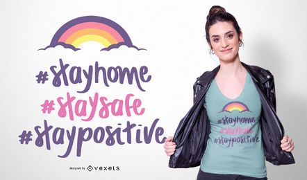 Diseño de camiseta Stay Home