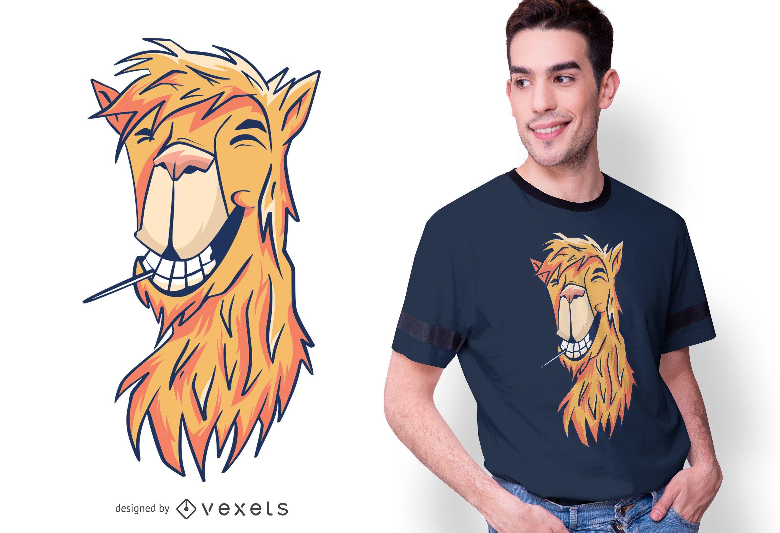 Diseño de camiseta Chill llama