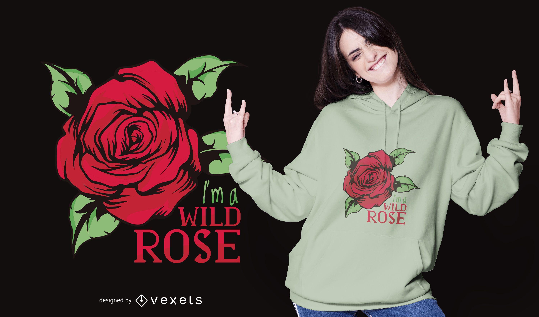 Design de camiseta rosa selvagem