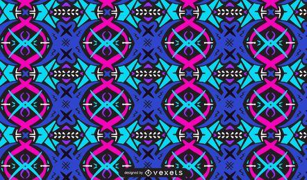 Diseño de patrón colorido trippy abstracto