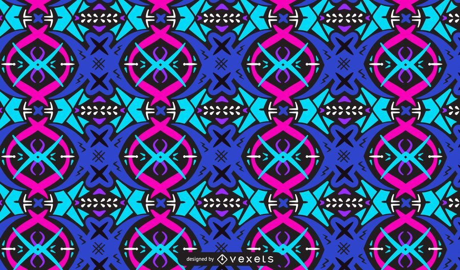 Abstract Trippy Colorful Pattern Design