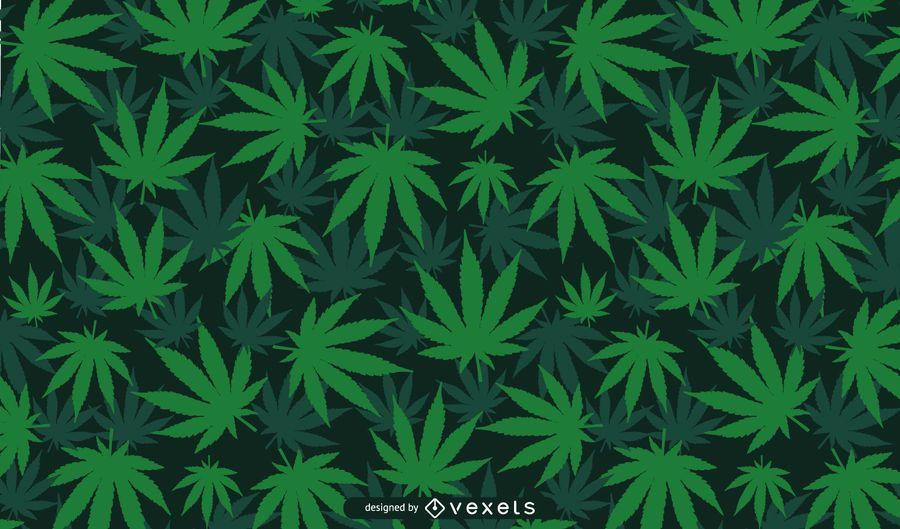 Cannabis Leaf Background Design