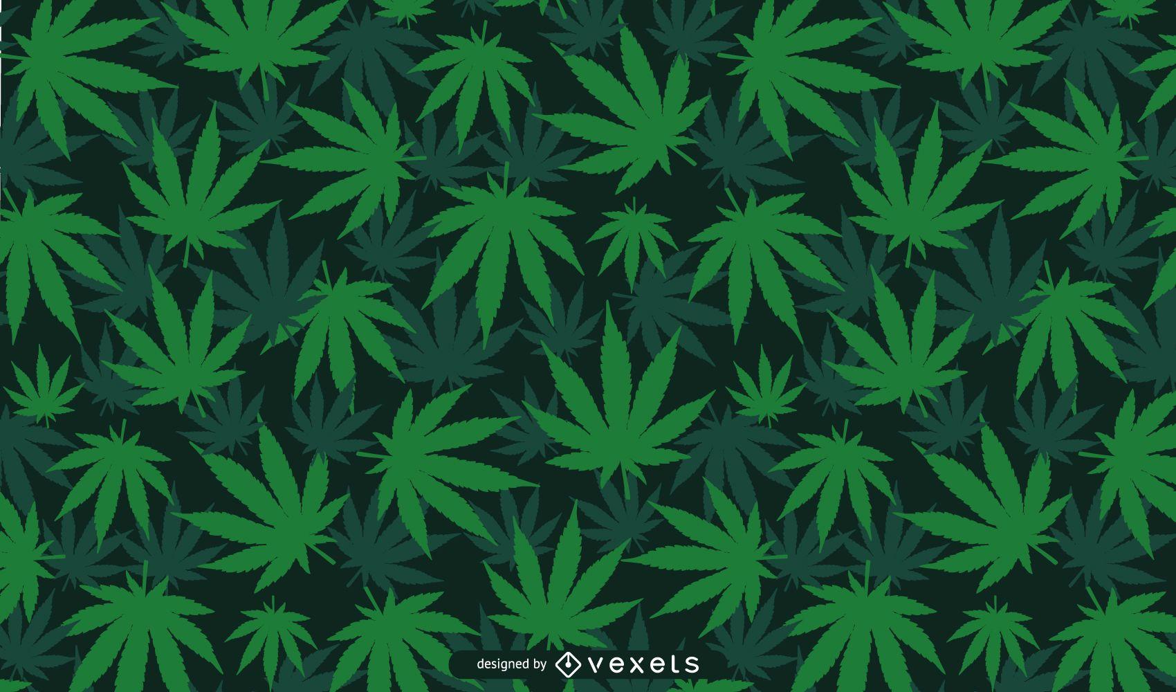 Diseño de fondo de hoja de cannabis