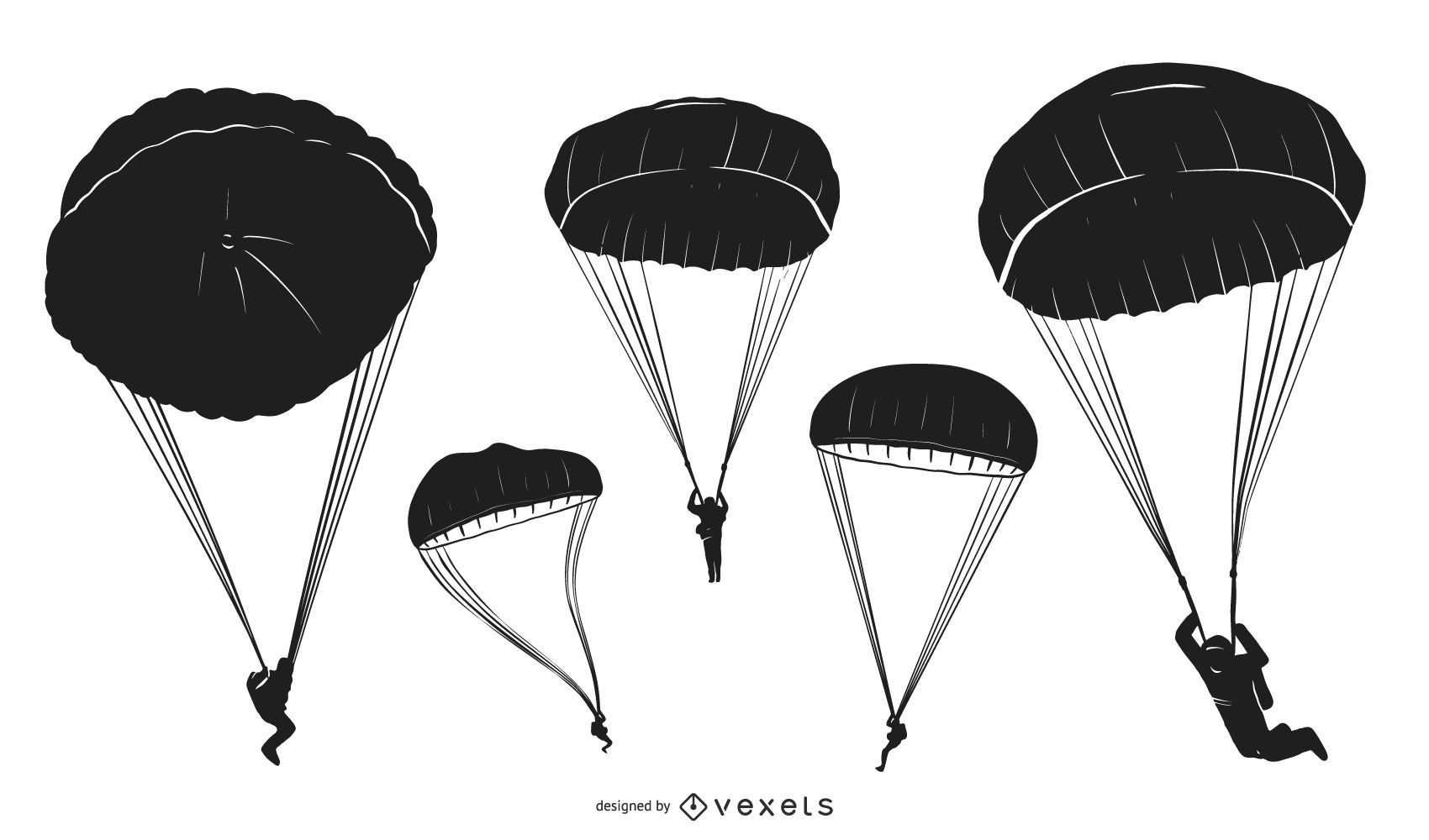 Parachute People Silhouette Pack