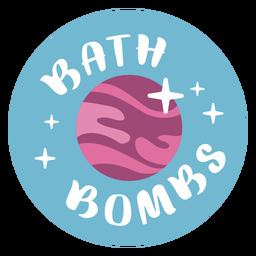 Rótulo plano de bombas de banho de banheiro