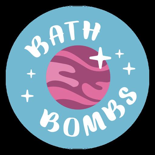 Bathroom bath bombs label flat Transparent PNG
