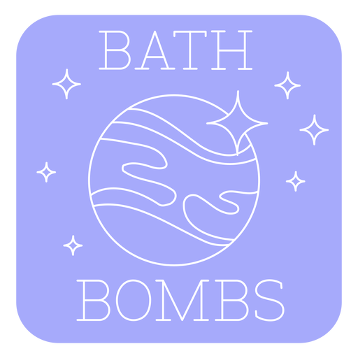 Bathroom bath bombs label line Transparent PNG