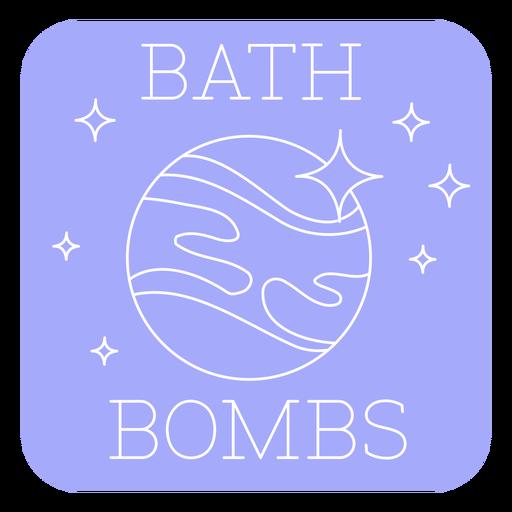 Bathroom bath bombs label line