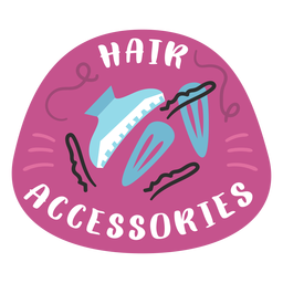 Bathroom hair accessories label flat
