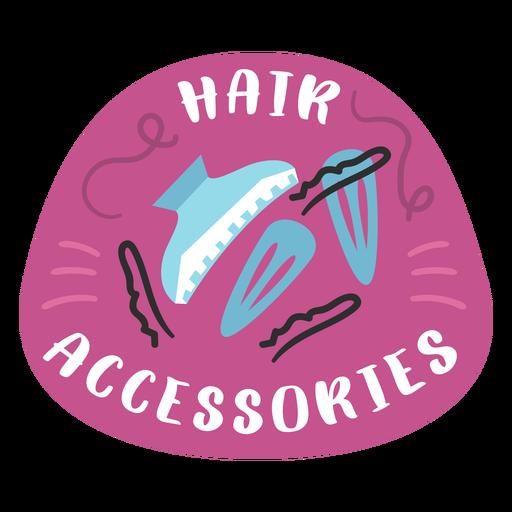 Bathroom hair accessories label flat