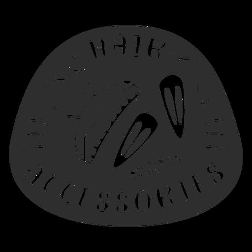 Bathroom hair accessories label black