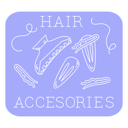 Bathroom hair accessories label line