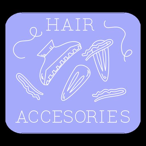 Bathroom hair accessories label line