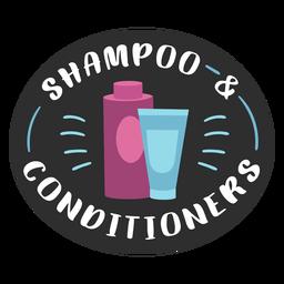 Bathroom shampoo and conditioner label flat