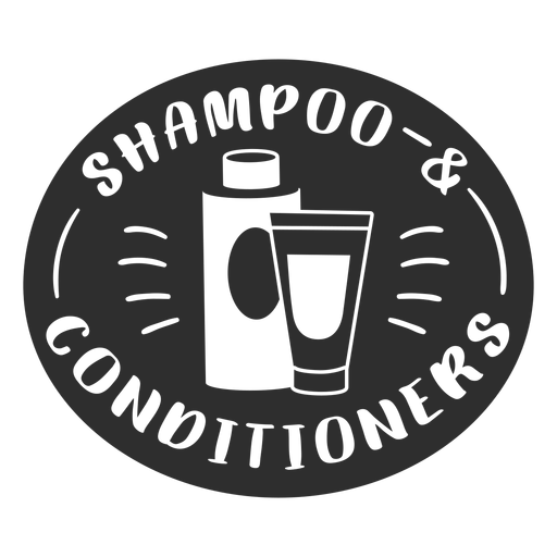 Bathroom shampoo and conditioner label black Transparent PNG